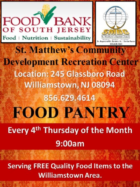South Jersey Food Bank Donations