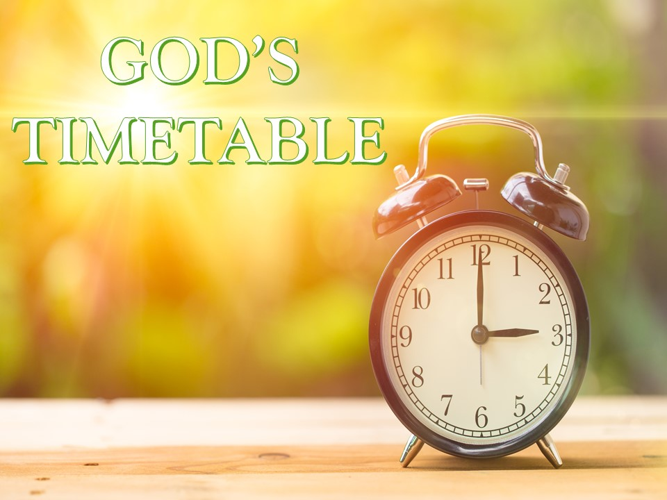 June 6th C.O.R.E God's Timetable